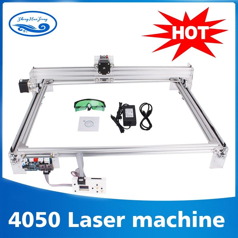 Zone de travail 40cm x 50 cm, machine de CNC laser 500 mw/2500 mw/5500 mw, imprimante de CNC d'image de Machine de gravure Laser Violet bricolage de bureau