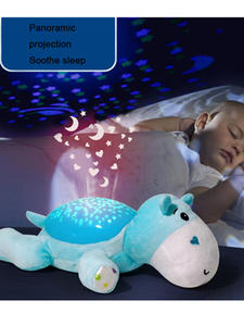 Plush-Toys Light Projector Star WINCO Children Sleep LED with Music Baby for Animal Stuffed