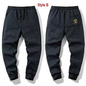 Image 3 - Супер Теплые Зимние флисовые тренировочные штаны, мужские плотные брюки джоггеры, мужские уличные длинные брюки больших размеров 6XL 7XL 8XL