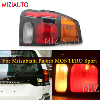 Left/Right Rear Tail Lights For Mitsubishi Pajero MONTERO Sport 1999-2008 Warning Light Brake Light turn signal taillights for mitsubishi pajero dakar nativa montero sport led angel eyes drl yellow signal light h11 55w fog lights with projector lens