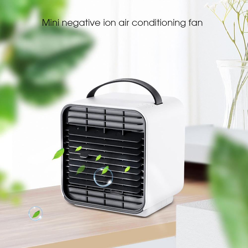 USB Mini Portable Air Conditioners Fan Humidifier Purifier Night Light Desktop Air Fan Cooler Arctic Cooling Handheld For Room