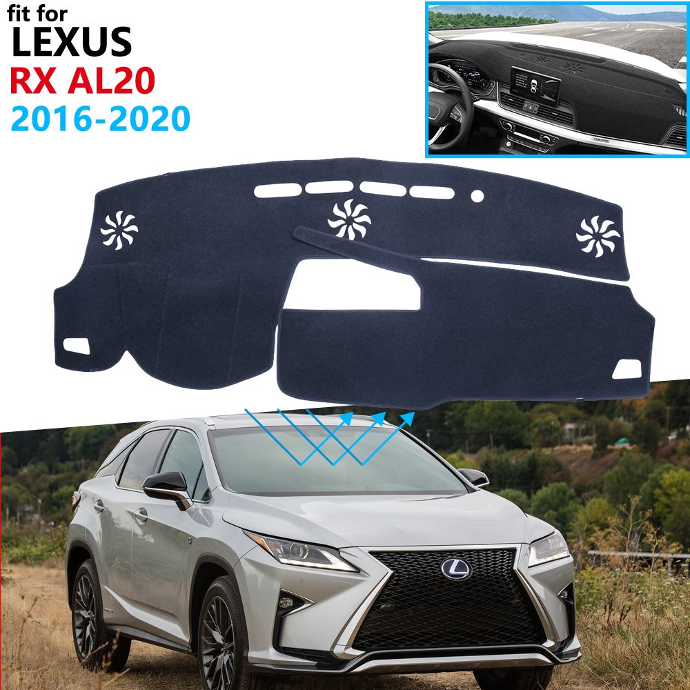 Dashboard Cover Protective Pad for Lexus RX 2016~2020 AL20 Car Accessories Dash Board Sunshade Carpet <font><b>RX200t</b></font> RX350 RX450h 350 image