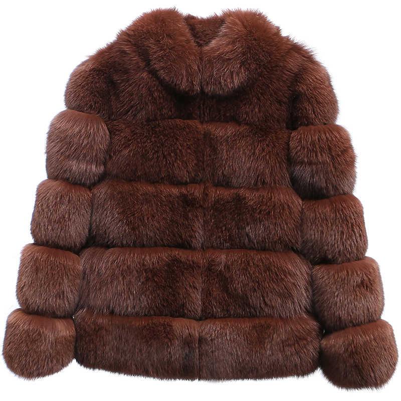 Short Real Fur Coat Natural Fox Fur Winter Coat Women Clothes 2020 Autumn Luxury Jacket Elegant Coats Abrigo Mujer KJ965