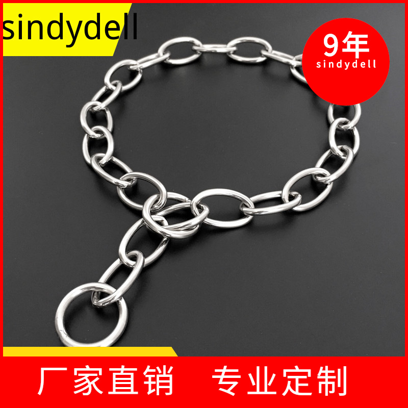Factory Sales Stainless Steel P Pendant Dog Neck Ring German Shepherd Rottweiler Golden Retriever Medium Large Dog Dog Training