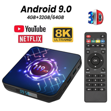 Smart Tv Box Android 9 Tvbox X3 4 Gb 8K Smart Tvbox Amlogic S905X3 9.0 Wifi 1080P 4K 8K Android Tv Set Top Box 4 Gb 64 Gb 32 Gb(China)