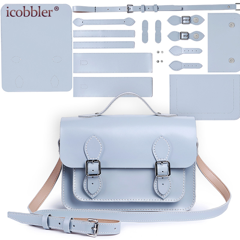 Handmade Making Genuine Leather Cow Material for Bag DIY Women One-shoulder Small Handbag Material Set, Need Sewing Stitching