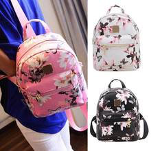 Wear Resistant Rucksack Faux Leather Durable Shoulder Bag Narcissus Girls Small Backpack PU Backpack 3 Color Waterproof(China)