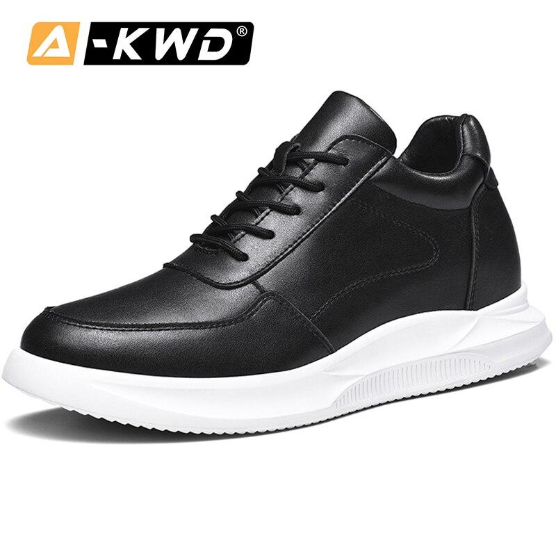 Fashion Elevator Shoes Lace-up Sheos Men Low Top Men's Shoes Mens Shoes Casual Leather Sneakers Zapatos De Hombre Deportivo