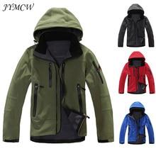 Тактическая Военная тренировочная куртка из мягкой кожи акулы, Мужская водонепроницаемая флисовая куртка, ветрозащитная теплая куртка