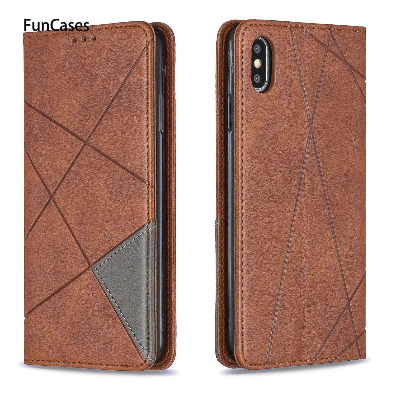 Geometry Flip Wallet Pouzdro Book pro krytí iPhone 6 Coque Capa Pouzdra na peněženky sFor Estuche Apple iPhone Coque 6S XS Max XR X Plus 7