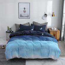 Simple Leaf Plaid Bedding Set Nordic Duvet Cover Single Double Queen King Size 220/240 Bed Linen Bedclothes Flamingo Quilt Cover