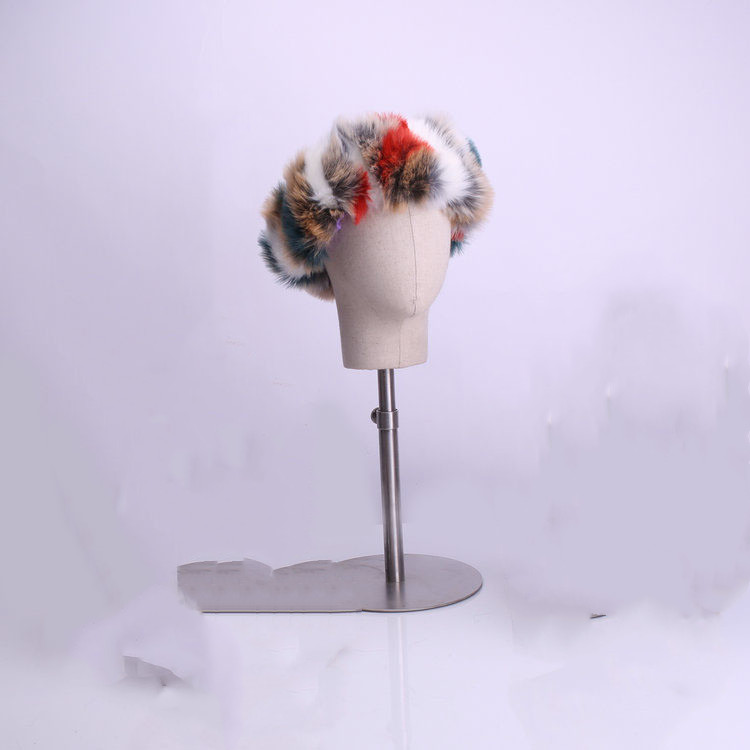SWONCO Furry Headband Woman Winter Warm Hot 2019 Winter Female Fashion Fur Headband For Women Headbands Mix Color Furry Headwear