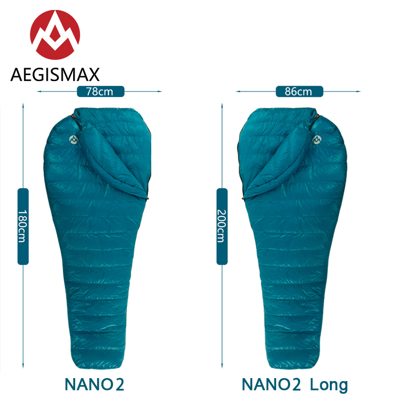 Aegismax Nano2 Outdoor Camping Ultralight Tent White Goose Down Mummy Spring Autumn Winter Hiking Splicable Sleeping Bag 2019 Latest Style Online Sale 50%