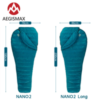 AEGISMAX NANO2 Outdoor Camping Ultralight Tent White Goose Down Mummy Spring Autumn Winter Hiking Splicable Sleeping Bag