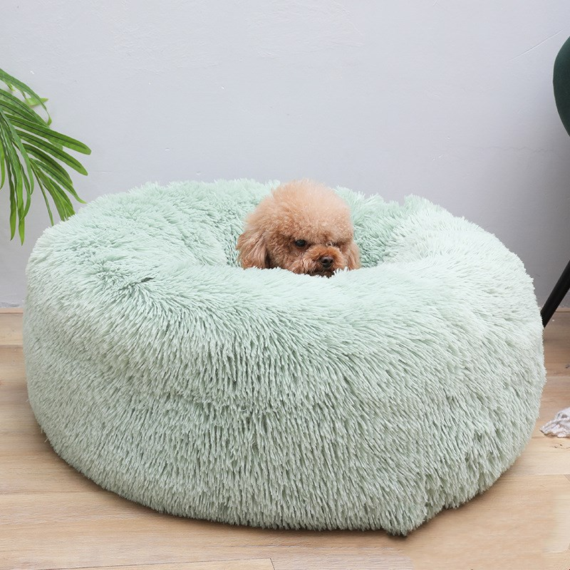 Autumn and Winter Round Long-haired Pet Mat Suitable fo Cats and Dogs Sleeping Feel Warm and Comfortable During in Winter 1