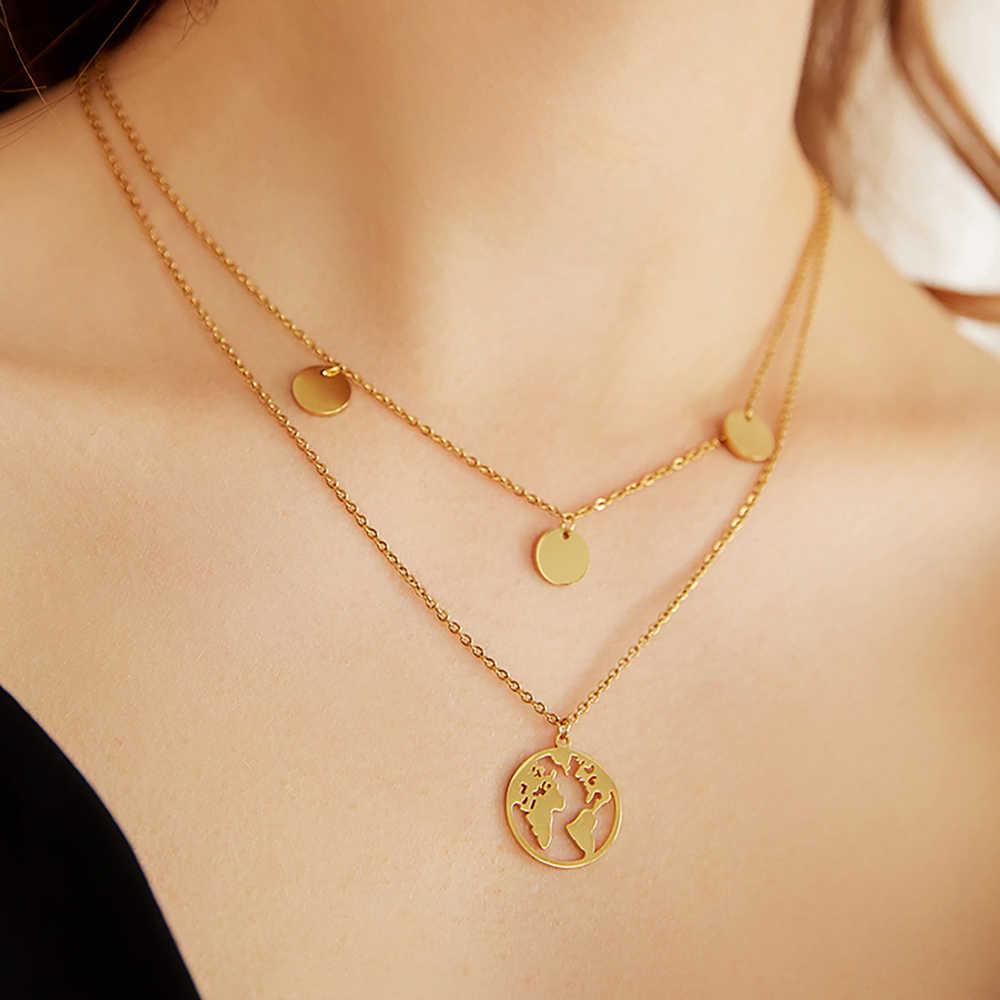 Boho Multi-Element Crystal Kettingen Voor Vrouwen Mode Gouden Ketting Vintage Meerdere Lagen Hanger Ketting Sieraden Gift