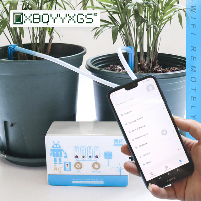 New Garden Remote Control Intelligent Watering Device Automatic Water Drip Irrigation System WIFI Connection Mobile APP Control