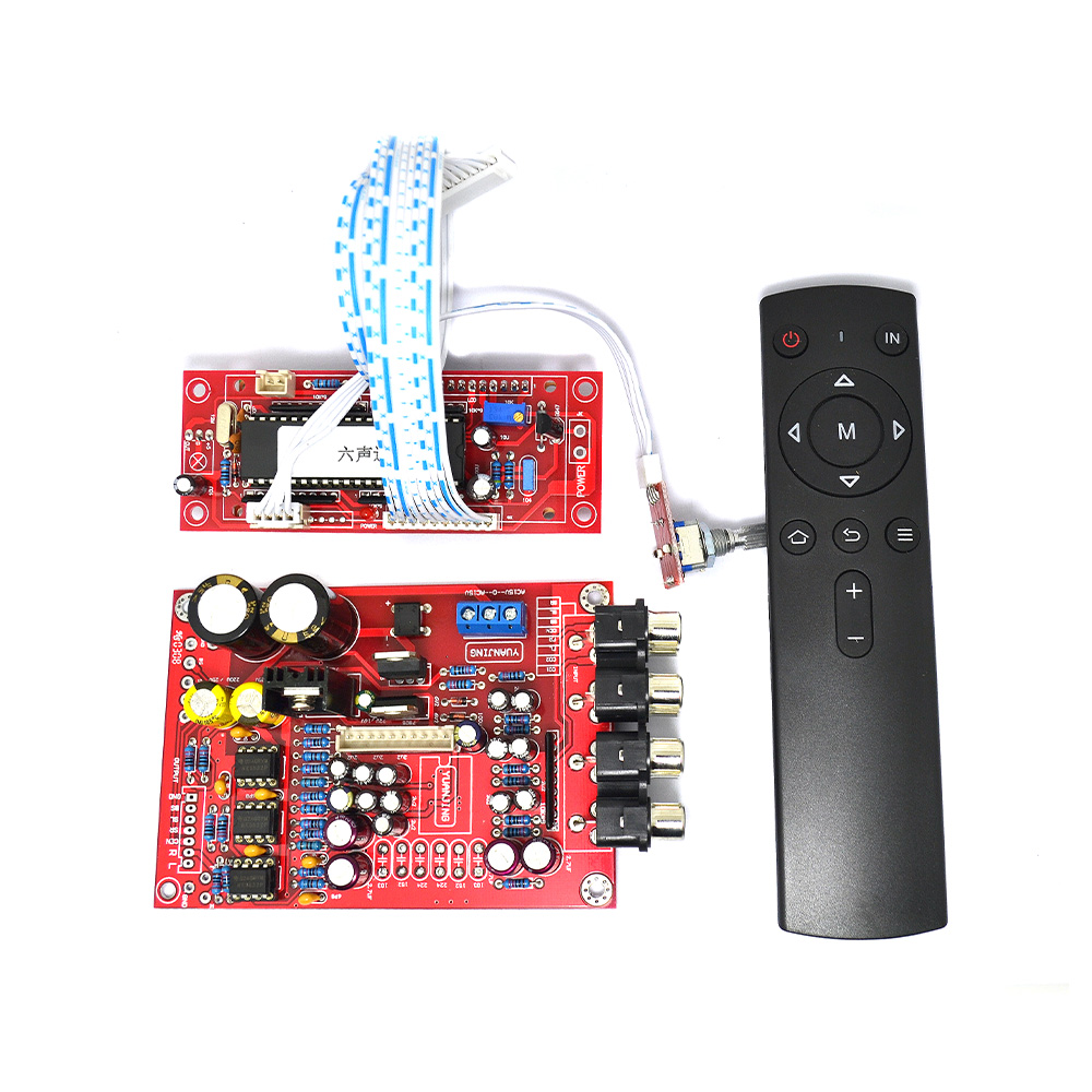 YJ 5.1 M62446 Pre-amp Board+Volume Remote Control Controller 6-channel