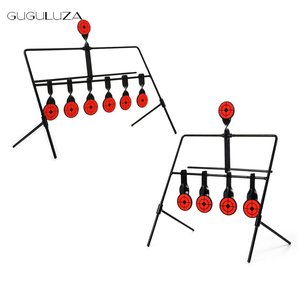 GUGULUZA Gun Resetting Target,for .177 Caliber Air Guns Pistol Shooting Target Self Resetting Spinning Airgun Rifle Target