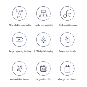 Image 3 - TWS Wireless 5.0 auricolare Bluetooth cuffie LED Touch Control auricolari 9D Stereo Bass Airbuds cuffie auricolari inalambricos