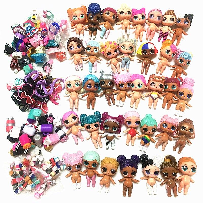 5/10 ensembles 100% poupées LOLs originales L.O.L. Surprise peut choisir 8CM grandes soeurs avec des vêtements robe accessoires jouet filles cadeau