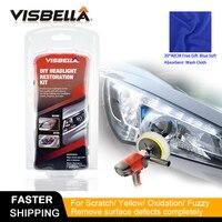 Visbella DIY Headlight Repair Kit for Car Care Professional Headlamp Restoration Cleaner Renew Lens Polish Hand Tool Sets