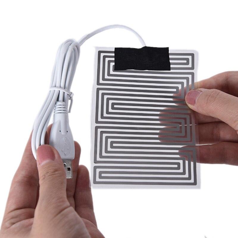 Portable 5V Carbon Fiber Heating Pad Hand Warmer USB Electric Fever Heat Mat