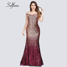Sexy Plus Size Sequin Party Dress 2020 Vestidos De Fiesta Elegant Mermaid V Neck Off Shoulder Long Formal Dresses Women Evening vestidos de noche sexy deep 2019 open back mermaid satin split elegant long formal women evening dresses party prom dress gown