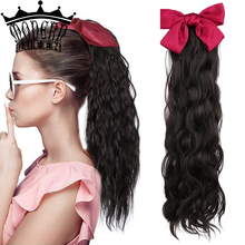Hair-Extensions Ponytail Synthetic-Bow Brown Natural-Black No for Women Color Girls Cute