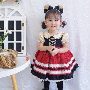 Robes d'été pour filles   Vêtements Tutu, motif floral, pour bal de mariage, fête d'anniversaire, pour enfants, Lolita, 6T