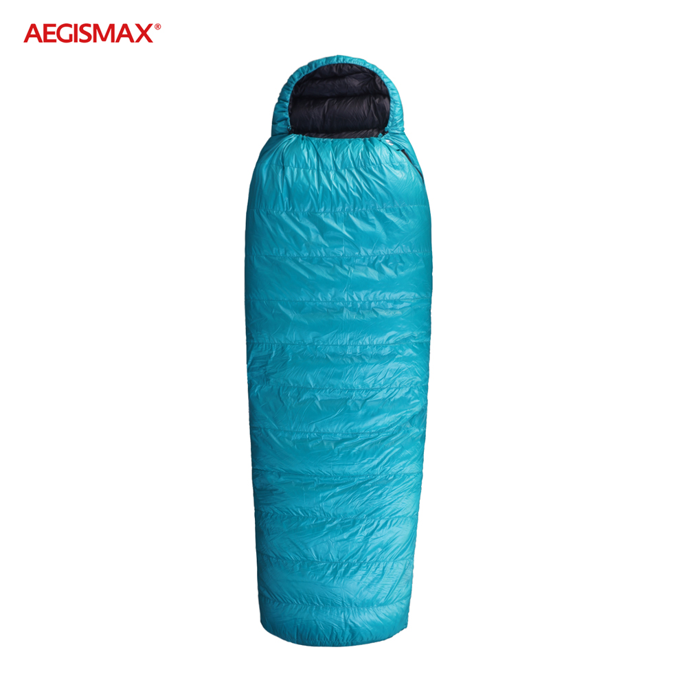 AEGISMAX EPLUS 95% гусиный пух FP800 спальный мешок сверхлегкие портативные спальные мешки типа «кокон» Сращивание открытый 14℉ ~ 25℉ спальный мешок