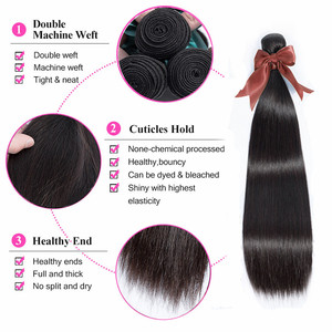 Image 3 - Bling Hair 8 30 Inch Straight Hair Bundles With Closure 13*4 Lace Frontal Malaysian Remy Human Hair Weave Bundles With Closure