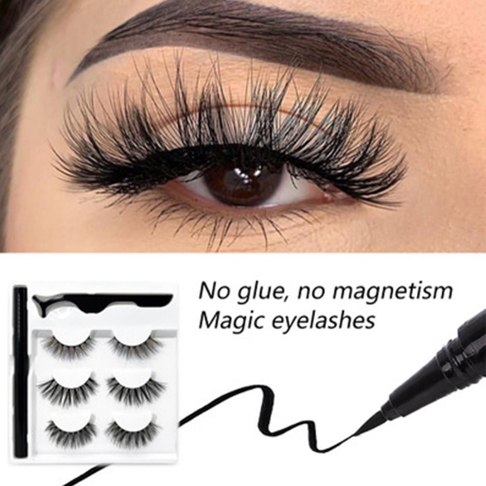 3Pairs/Set Magnetic Eyelashes Applicator Clip No Glue Need Easy Apply Eyelashes Reusable Quantum Soft Magnetic False Eyelash 2