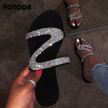 New Women Slippers Fashion Diamond Slides Casual Beach Slipper Ladies Sexy Rhinestone Sandals Slip On Flat Flip Flops Outdoor suojialun women sandals 2019 summer new fashion butterfly knot beach flip flops ladies flat casual non slip slides slipper