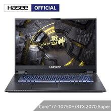 """Hasee G10-CU7PF portátil para juegos (Intel core I7-10750H + RTX2070 super/16GB RAM/512G SSD + 1T HDD/17,3 """"144hz IPS) de la computadora portátil"""