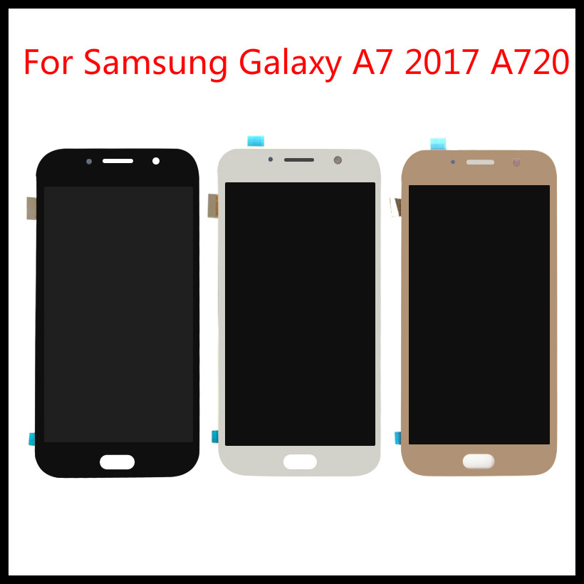 For <font><b>Samsung</b></font> Galaxy A7 2017 <font><b>A720</b></font> A720F A720M <font><b>LCD</b></font> Touch Screen Digitizer Assembly Replacement Free Tools image