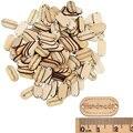 100pcs 2 отверстия природные ручной этикетка лейбл, деревянные пуговицы для рукоделия кнопки для шитья лейбла блокнот ручной работы материалы ...