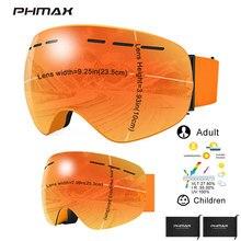 Eyewear Ski-Goggles-Set PHMAX Skiing-Glasses Anti-Fog Kids Women Child Outdoor Parent