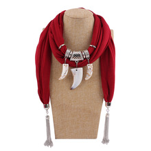 цена на resin pendant necklace scarf women's shawl jewelry national style Ivory decorative accessories scarf pendant scarf
