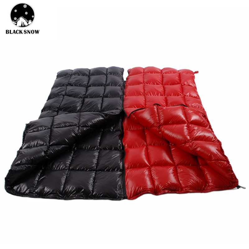 Lovely Outdoor Camping Lightweight Goose Down Sleeping Bag Camping Accessories Splicable Double Indoor Worm Anti-dirty Sleeping Bag
