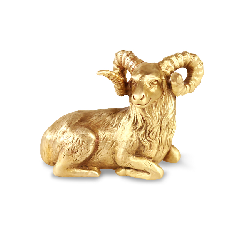 Lovely Goat Paperweights Decoration Painting Brass Paper Press Portable Creative Brush Pen Rest Chinese Calligraphy Paperweights