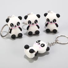1pcs Creative Cute Cartoon Keychain Metal Jewelry Animal Panda Girls Bag Ornaments Accessories Gift