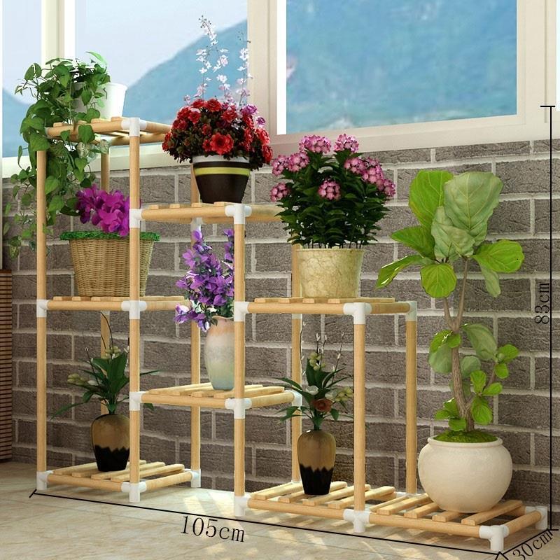 Para Plantas Garden Shelves For Plant Stojaki Wood Etagere Plante Balcony Shelf Outdoor Dekoration Stojak Na Kwiaty Flower Stand