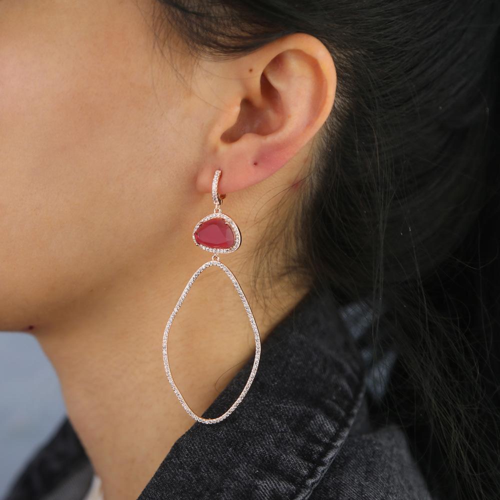 BRASS drop earring Y (8)