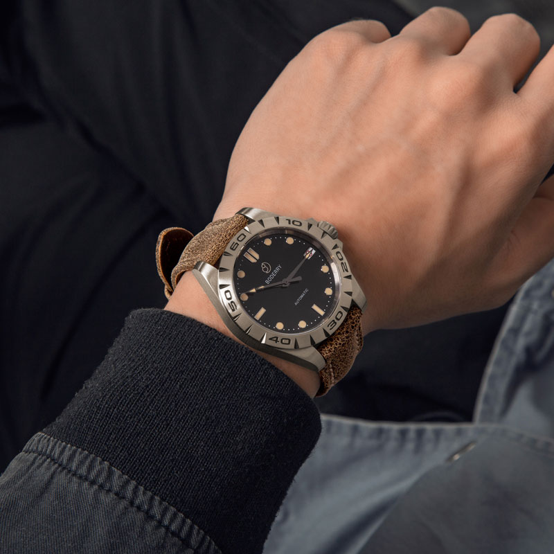 Titanium Case 2020 Top Brand Luxury Men's Watches Automatic Mechanical Waterproof Calendar Watch Male Clock Relogio Masculino