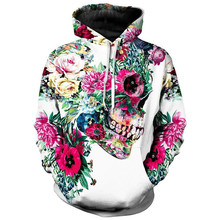 Couple Sweatshirt Mens Casual Halloween Floral 3D Print Party Long Sleeve hip hop Hoodie Sweatshirt Blouse moletom masculino floral print men sweatshirt