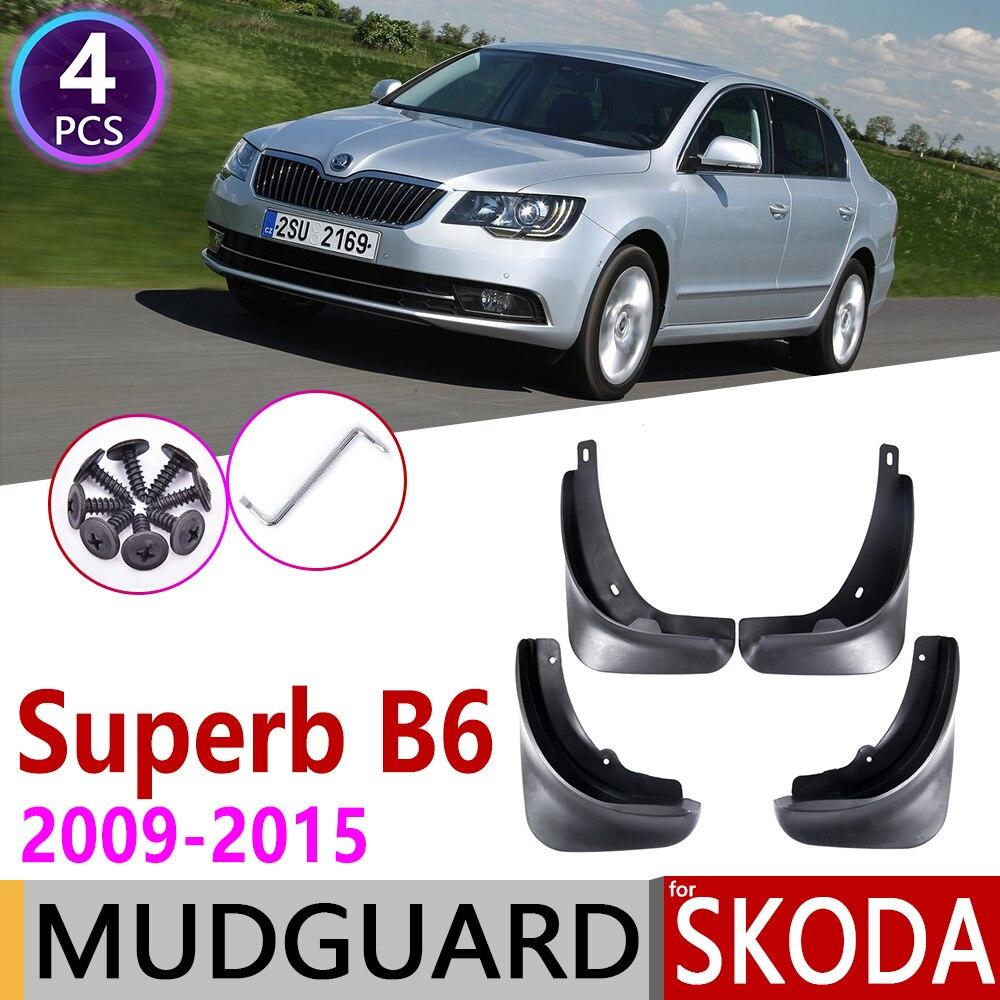 Car Mudflaps For Skoda Superb B6 2 MK2 3T 2009~2015 Fender Mud Guard Flap Splash Flaps Mudguards Accessories 2010 2012 2013 2014