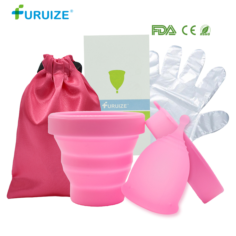 Sterilizing Cup With Copa Menstrual With Cloth Bag Reusable Silicone Cup Feminine Hygiene Sterilize Cup Use Clean Menstrual Cup
