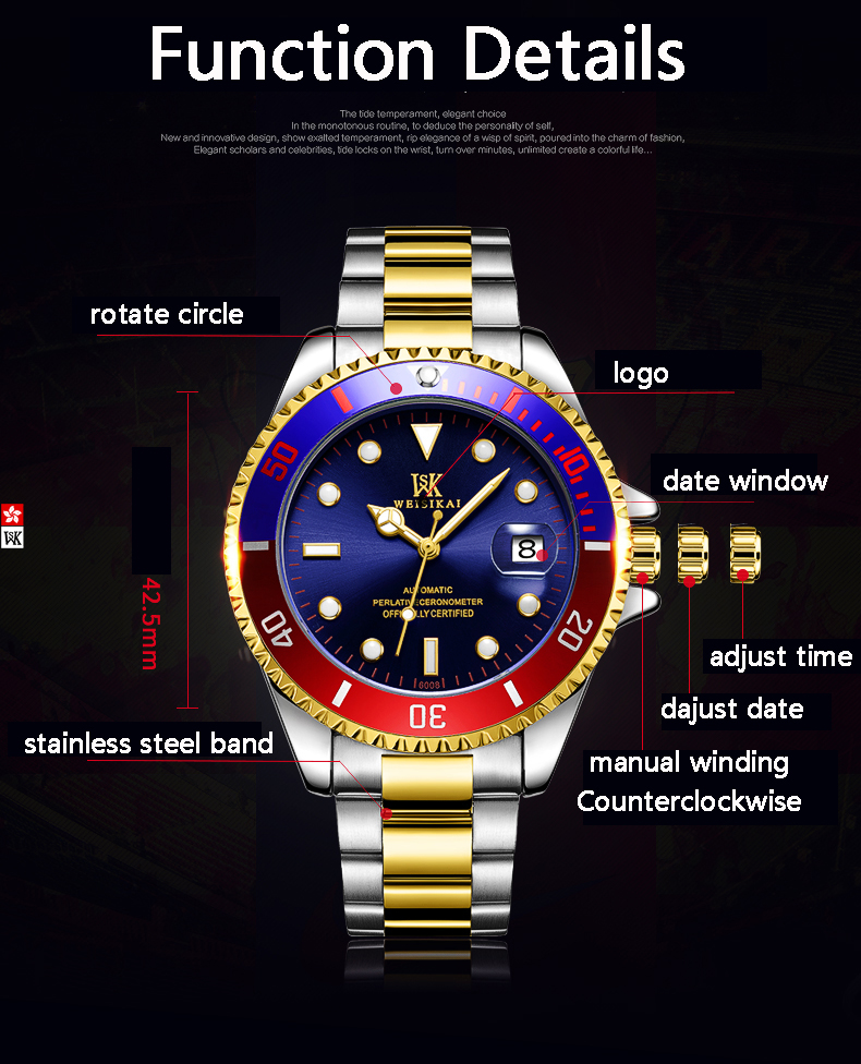 H0698e9ea80d149d2a534cc665f78f00dq WEISIKAI Diver Watch Automatic Mechanical Watches Sports Top Brand Luxury Men's Diving Watches Male Wristwatch Relogio Masculino