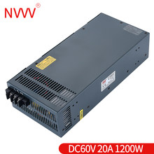 NVVV S-1200w-60v 20A switching power supply Transformer AC to DC adapter suitable for Cnc Cctv Led Light enough power